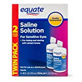 Equate Saline Solution for Sensitive Eyes Twin Pack, 12 fl oz, 4 count