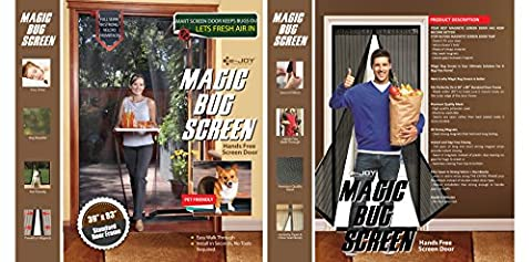 E-joy® Hands-free Retractable Magic Mesh Screen Door (1 Pcs)