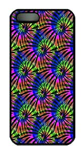 IMARTCASE iPhone 5S Case, Tie Dye Tropical Colors Seamless PC Black Hard Case Cover for Apple iPhone 5s/5 by lolosakes by lolosakes