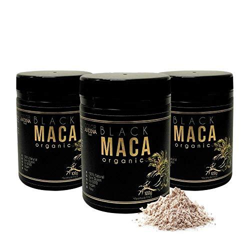 Maca Peruana Black (Preta) Maca, Color Andina Food, 3 potes de 100g