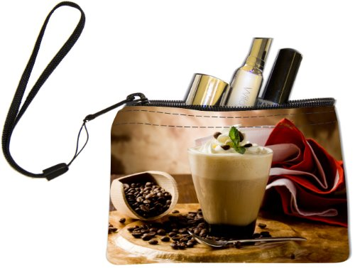 Rikki KnightTM Cappuccino with whipped cream Design Keys Coins Cards Cosmetic Mini Clutch Wristlet