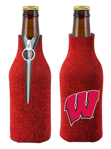 NCAA U Of Wisconsin Glitter Bottle Coolie, One Size, - Wisconsin In Malls Outlet