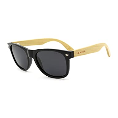 Walnussholz Wayfarer Sonnenbrille Herren und Damen Polarisiert mit Holz Schachtel wdEMmjj