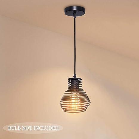 Vintage Industrial Geometric Metal Cage Pendant Light Loft Ceiling Lamp Shade IN