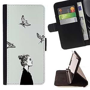 Dragon Case - FOR HTC One M9 - who needs protection - Caja de la carpeta del caso en folio de cuero del tir¨®n de la cubierta protectora Shell