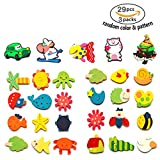 magnet game for fridge - 24 pcs Cute Animals Fridge Magnets For Kids Toddler,Magnetic Board With Letters And Numbers Magnet Toy For Refrigerator,Children Educational Game Magnetic Letters&Words Classic Wooden Animal Magnet