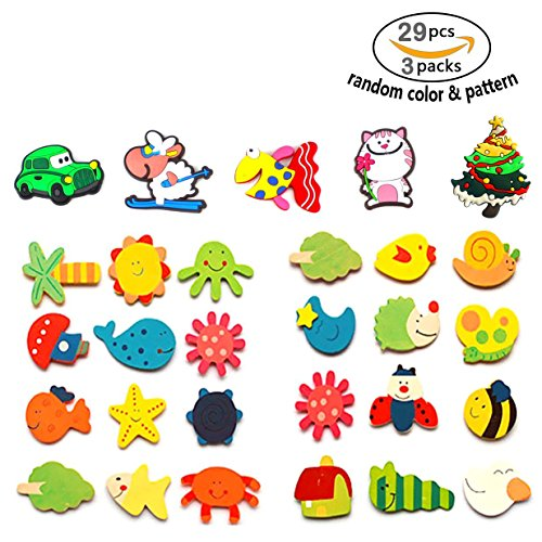 Animal Letter (24 pcs Cute Animals Fridge Magnets For Kids Toddler,Magnetic Board With Letters And Numbers Magnet Toy For Refrigerator,Children Educational Game Magnetic Letters&Words Classic Wooden Animal Magnet)