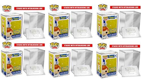 Case Protector Hard - Funko POP STACKS 6-Pack #1 Seller - Hard Plastic Protector Case for Regular Size Funko Pop Boxed Figures