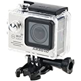 "ABLEGRID AG5000 WIFI Novatek 96658 14MP 2.0"" LCD 1080P 170 Degree Wide Angle Sports DV Waterproof Action Camera Camcorder Outdoor for Bicycle Motorcycle Diving Swimming Silver"