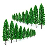 Shalleen 10pcs Forest Trees Model Train Railroad Landscape Scenery HO N Scale 1.9-6.3''
