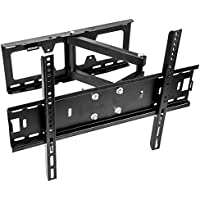 Vemount TV Wall Mount Bracket with Full Motion Tilt Swivel Articulating Arm for most 26-55 inch LCD LED OLED Plasma Flat Screen TV VESA up to 500x400mm, 110 Lb Capacity