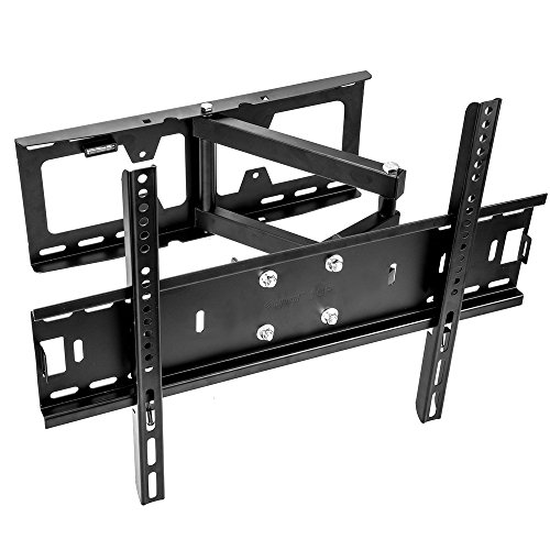 Vemount TV Wall Mount Bracket with Full Motion Tilt Swivel Articulating Arm for most 26-55 inch LCD LED OLED Plasma Flat Screen TV VESA up to 500x400mm, 110 Lb Capacity -