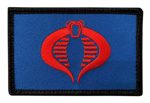 - GI Joe Cobra Blue Cosplay Embroidered Snake Morale Hook Patch