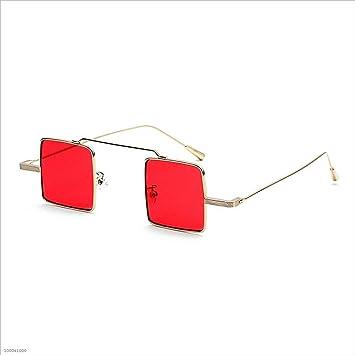 fe7edbdf0d Aszhdfihas Gafas de Sol cuadradas pequeñas para Mujeres Gafas de Sol con  Montura metálica Unisex para Hombres (Color : Rojo): Amazon.es: Hogar
