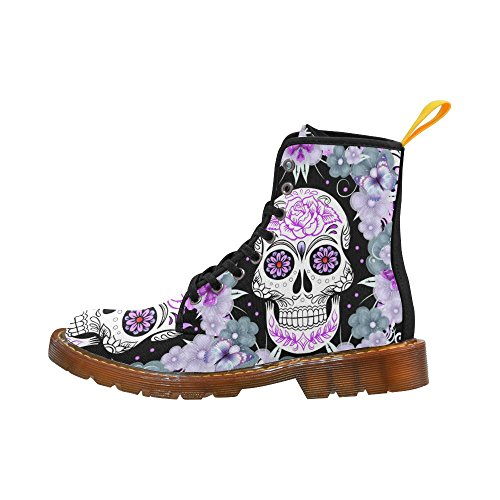 for Sugar fantasia and Flowers Women Boots Girl's Cool Skull Canvas your p6zBqZxx