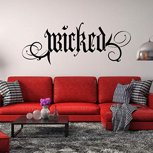 gayerb Peel and Stick Removable Wall Stickers Wicked Wall Decal Quote Halloween Decor Gothic Goth ()
