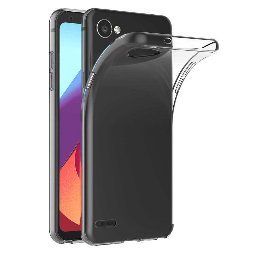 Cover LG Q6, AICEK Cover LG Q6 Silicone Case Molle di TPU Trasparente Sottile Custodia per LG Q6 (5.5 pollici)