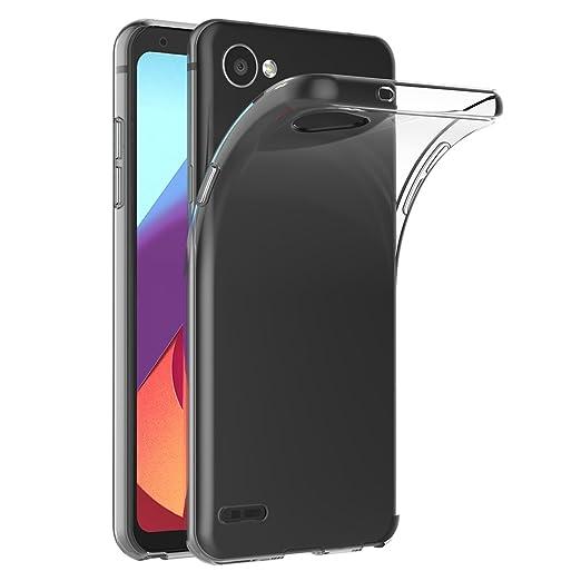 30 opinioni per Cover LG Q6, AICEK Cover LG Q6 Silicone Case Molle di TPU Trasparente Sottile