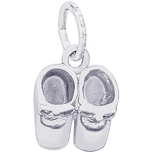 - Genuine Rembrandt Charms Sterling Silver Baby Booties Charm Measuring Approximately 10.5 x 9 mm