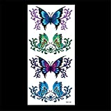 zgmtj Flowers, birds and beasts, color tattoo stickers M110 9X19CM