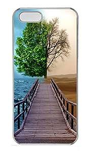 Lmf DIY phone caseiPhone 5 5S Case Landscapes tree 2tone dock PC Custom iPhone 5 5S Case Cover TransparentLmf DIY phone case
