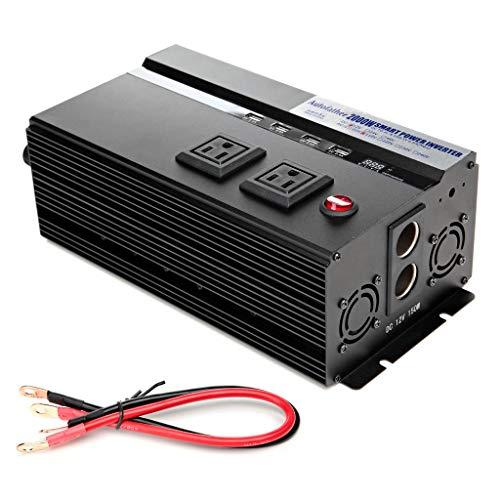 (Bowoshen 2000W Car Power Inverter 12V DC to 110V AC Latest Digital Display Design with 2 AC Outlets & 4 USB Charging Ports 2018 Newest Design - 2 Year Warranty)