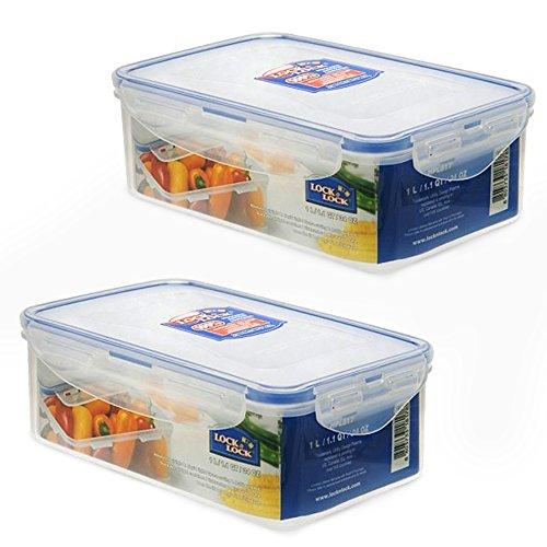 Cup Rectangular Lock & Lock (Lock & Lock Airtight Rectangular Food Storage Container 33.81-oz / 4.23-cup (Pack of 2))