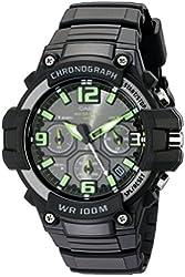 Casio Men's MCW-100H-3AVCF Heavy Duty-Design Chronograph Black Watch
