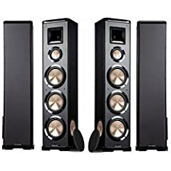 """""""BIC America PL-980 3-way Floor Speakers Unlike the majority of horn floor speakers on the market today, the PL-980s incorporate a 3-way multi-driver design rather than a 2-way design. Although many 2-way floor speakers offer outstanding perf..."""