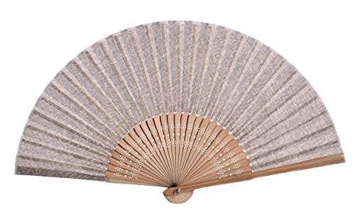 Salutto Hand Fan with Beautiful Fabric Printed