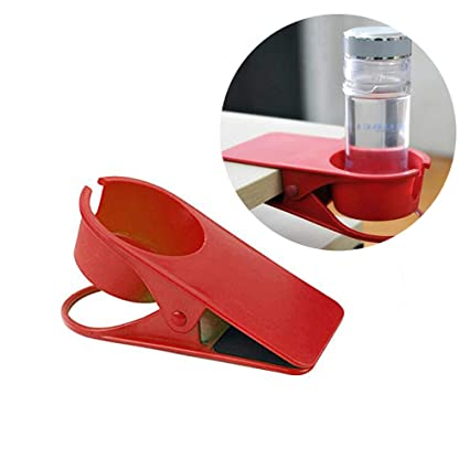 Miraculous Desk Cup Holder Table Desk Side Clip Water Drink Beverage Soda Coffee Mug Holder For Office Chair Table Desk Side Red Download Free Architecture Designs Rallybritishbridgeorg