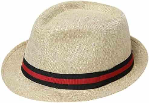 cf269132027 BABEYOND 1920s Panama Fedora Hat Cap for Men Gatsby Hat for Men 1920s Mens  Gatsby Costume