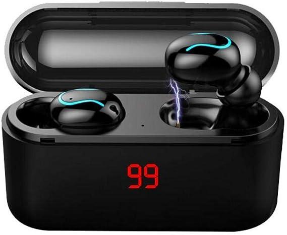 terferein Ecouteurs Intra-Auriculaires stéréo Sports Waterproof, Mini-oreillette sans Fil Bluetooth 5.0 avec Son Surround 8D, capacité de 3 500 mAh, réduction du Bruit, Appel HD