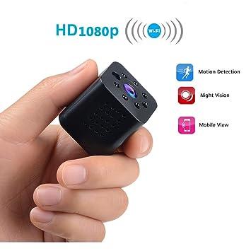 OMZBM Mini Ocultos Seguridad 1080P HD Cámara IP 360 ° Girar Video Recorder 140 Gran Angular