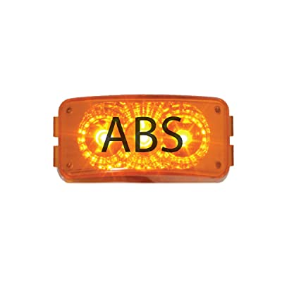 "GG Grand General 77954 2-1/2"" x 1-1/4"" x 13/16"" LED Light (Small Rectangle Spyder Amber with ABS Logo): Automotive"