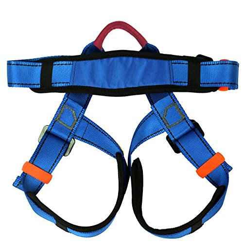 Climbing Harness,Child Half Body Guide Harness,Protect Leg Waist Wider Safe Seat Belts for Mountaineering Outward Band Rescue Working on the Higher Level Climbing Rappelling Equip by Flowersea998