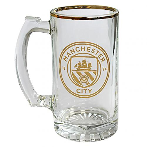 - Official Licensed Manchester City F.C - Stein Glass Tankard