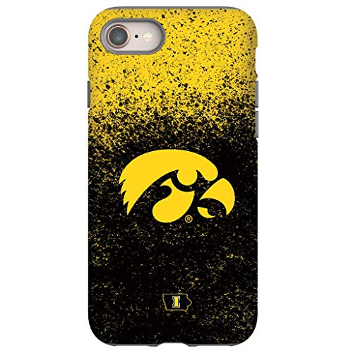 Tough Phone Case for iPhone 7/8 Plus - Protective Glossy iPhone Case with Iowa Hawkeyes Design (Iowa Hawkeyes Iphone 4 Case)
