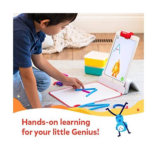 Osmo 901-00015 Little Genius Starter Kit 4 Giochi Apprendimento Hands-On età prescolare Risolvere Problemi Base iPad Creativity Incluso 4 spesavip