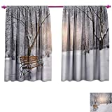 Best Better Homes & Gardens Outdoor Benches - cobeDecor Winter Drapes Living Room Snowy Leafless Trees Review