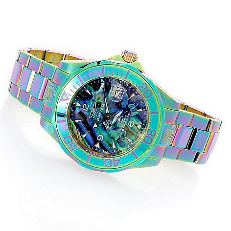 Invicta Men 's 47 mm Grand Diver自動虹色アバロニダイヤルブレスレット腕時計 B07DFZHXN9