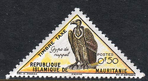 Vulture Bird of Prey 0f50 Mauritania Triangle Postage Stamp