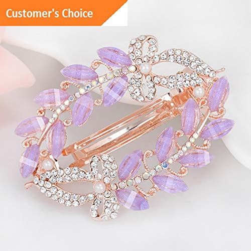 Werrox Silver Wedding Bridal Pearl Flower Crystal Hair Pins Bridesmaid Clips Comb NEW | Model HRPN - 2378 | ()