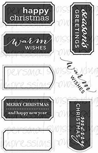 Paula Pascual Clear Stamps - Fancy Christmas Messages by Personal Impressions CICSA6253 B00MFRE5GG     | Komfort