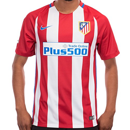 fan products of Nike Men's Atletico Madrid Home Stadium Soccer Jersey (X-Large) Red, White