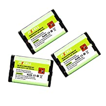 Cordless Phone Batteries for Panasonic HHR-P107 TYPE35 serials Count: (3)