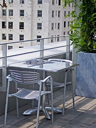 (Peel-n-Stick Poster of Sitting Modern Rooftop Terrace Table Contemporary Vivid Imagery Poster 24 x 16 Adhesive Sticker Poster Print)
