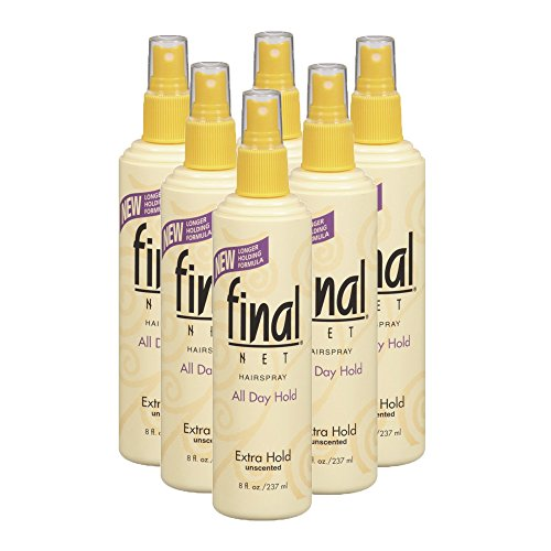 Extra Hold Formula (Final Net Extra Hold Unscented Hairspray, 8 Ounce (Pack of 6))