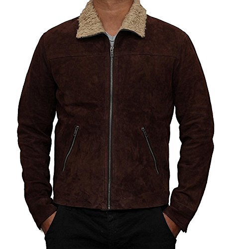 Rick Suede Grimes Jacket - The Walking Brown Dead Real for sale  Delivered anywhere in Canada
