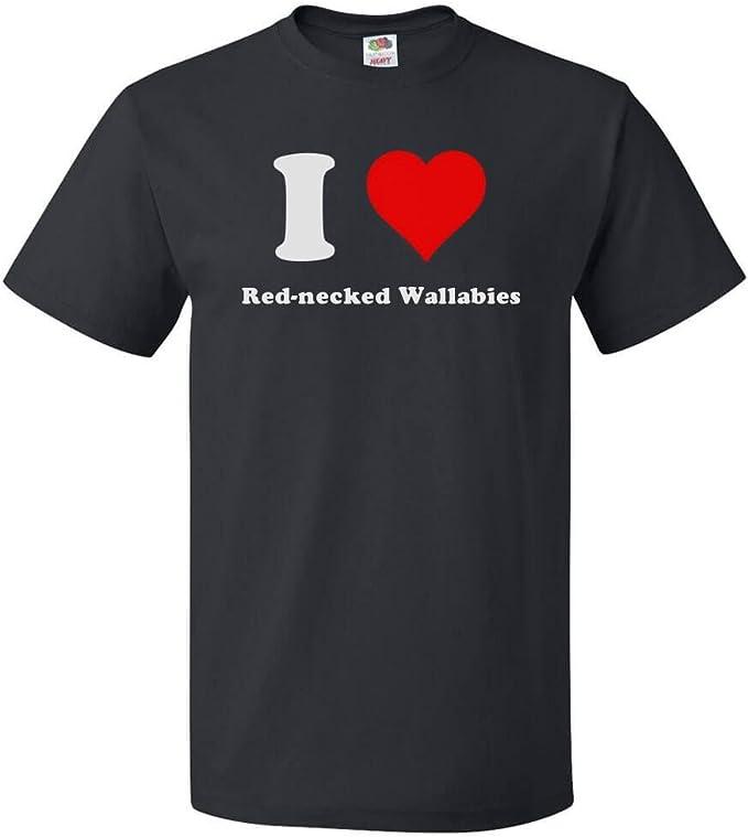 I Love Heart Wallabies Ladies T-Shirt